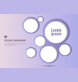 abstract background purple circles frame bubble vector image