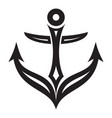 ancient anchor icon simple style vector image
