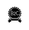 b2c black icon sign on isolated background vector image vector image