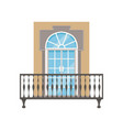 balcony with wrought iron railing classical house vector image vector image