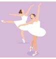 ballerina girl ballet pose dance action perform vector image vector image