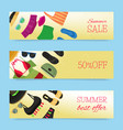 beach fashion banners summer vector image vector image