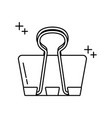 binder clip office line icon style vector image