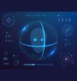 biometrics digital face scanning facial vector image