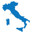 blank blue similar italy map isolated on white bac vector image