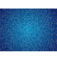 Blue screen binary code screen vector image vector image