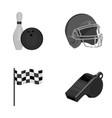 bowl and bowling pin for bowling protective vector image vector image