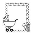boy decoration bashower card vector image