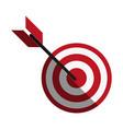 bullseye with dart icon image vector image vector image