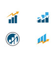 business finance logo template icon vector image