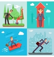 Businessman Characters Set Experienced vector image vector image