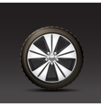 Car Wheel Black Background vector image
