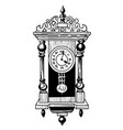 Cartoon image of old clock vector image