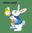 cartoon white rabbit vector image vector image