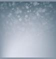 christmas falling snow blue white snowfall vector image vector image