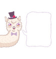 cute alpaca like groom vector image vector image