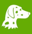 dalmatians dog icon green vector image vector image