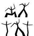Dancing black man vector image