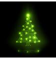 digital christmas tree vector image vector image