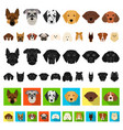 dog breeds cartoon icons in set collection for vector image