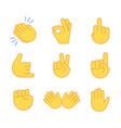 emoji hand applause emoticon thumb clap icon vector image