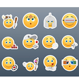 Emoticons that play vector image vector image