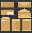 Envelope icons set flat design