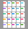 file extension - set color icon vector image vector image