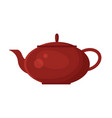 flat teapot icon logo isolated on white vector image vector image