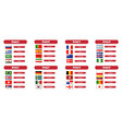 football groups championship flags icons of the vector image vector image