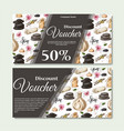 gift voucher template with spa elements in hand vector image vector image