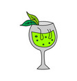 glass drinking cocktail template vector image vector image