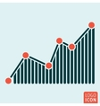 Graph icon isolated vector image vector image