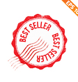 Grunge best seller guarantee rubber stamp - vector image