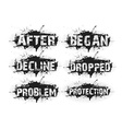 grunge text vector image