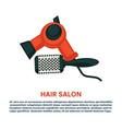 hair styling woman hairdresser dryer hairbrush vector image vector image