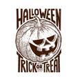 halloween trick or treat symbol vector image