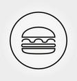 Hamburger cheeseburger burger icon