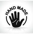hand made icon design concept vector image vector image