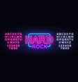 hard rock neon sign design vector image