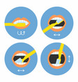 how to brush your teeth instructions 4 steps vector image vector image