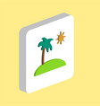 island with palm with palm computer symbol vector image