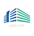 Isolated building logo vector image vector image