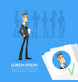job recruitment or headhunting banner template vector image