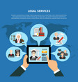 law in app composition vector image vector image