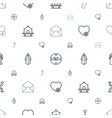 linear icons pattern seamless white background vector image vector image