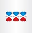 love valentine heart design vector image vector image