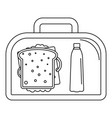 lunch sandwich box icon outline style vector image vector image
