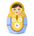 matryoshka doll or russian nesting doll with vector image vector image