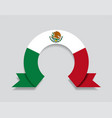 mexican flag rounded abstract background vector image